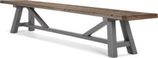 An Image of Iona Extra Large Bench, Solid Pine and Grey
