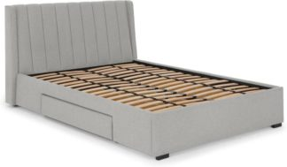 An Image of Bremen Super King Size Bed with Drawer Storage, Hail Grey