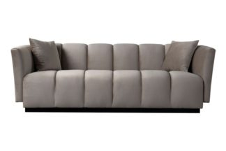 An Image of Herbie Three Seat Sofa - Taupe