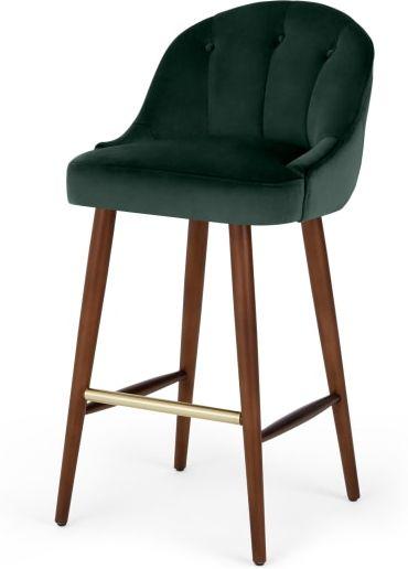 An Image of Margot Barstool, Pine Green Velvet