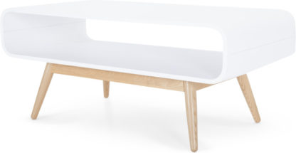 An Image of Esme Compact Coffee Table, White and Ash