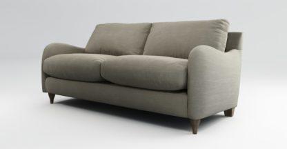 An Image of Custom MADE Sofia 2 Seater Sofa, Athena Putty with Light Wood Legs