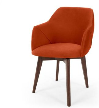 An Image of Lule Office Chair, Flame Orange Velvet