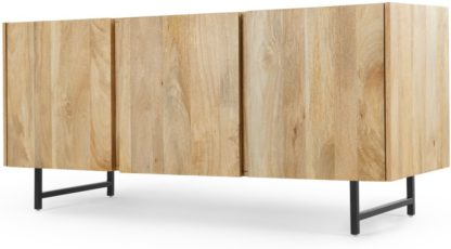 An Image of Aphra Sideboard, Light Mango Wood and Black