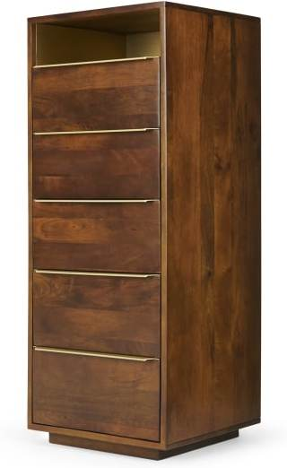 An Image of Anderson Tall Chest of Drawers, Mango Wood