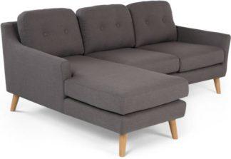 An Image of Rufus Left Hand Facing Chaise End Corner Sofa, Rhino Grey