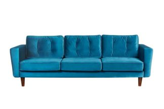 An Image of Luciene 3 seat sofa Genova Peacock