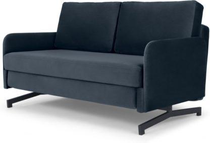 An Image of Motti Sofa Bed, Sapphire Blue Velvet