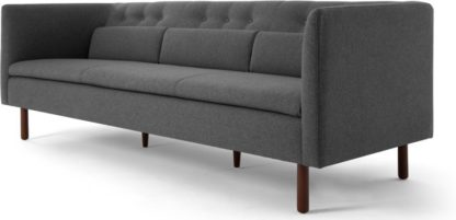 An Image of Henderson 3 Seater Sofa, Marl Grey
