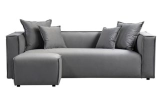 An Image of Max Three Seat Corner Sofa - Dove Grey