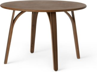 An Image of Safia 4 Seat Round Dining Table, Walnut