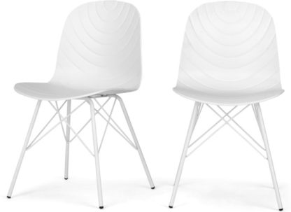 An Image of Set of 2 Mavis Dining Chairs, White