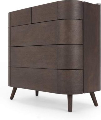 An Image of Ada 5 Drawer Chest of Drawers, Dark Stain Oak