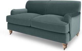 An Image of Orson 2 Seater Sofa, Marine Green Velvet