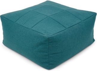 An Image of Loa Quilted Floor Cushion, Mineral Blue