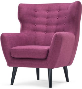 An Image of Kubrick Wing Back Chair, Plum Purple