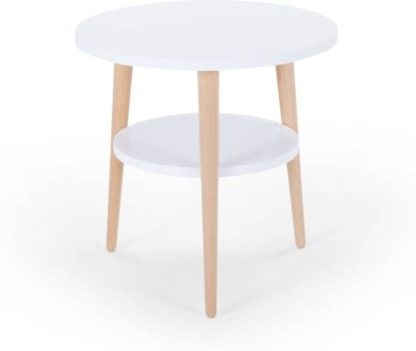 An Image of Marcos Side Table, Natural and White