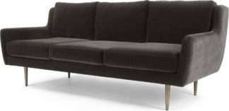 An Image of Simone 3 Seater Sofa, Concrete Cotton Velvet
