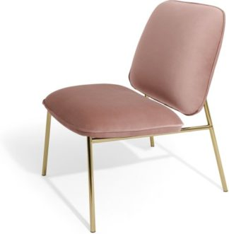 An Image of Blush Accent Armchair, Vintage Pink Velvet