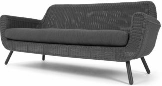 An Image of Jonah Garden 3 seater sofa, rattan grey