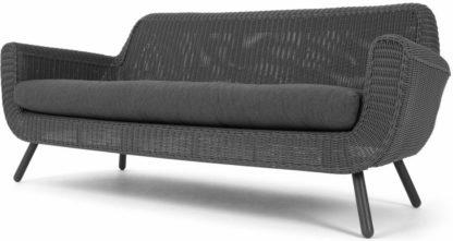 An Image of Jonah Garden 3 seater sofa, rattan grey