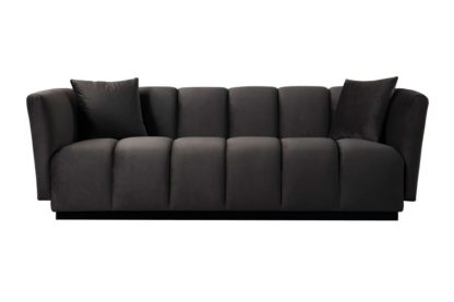 An Image of Herbie Three Seat Sofa - Carbon