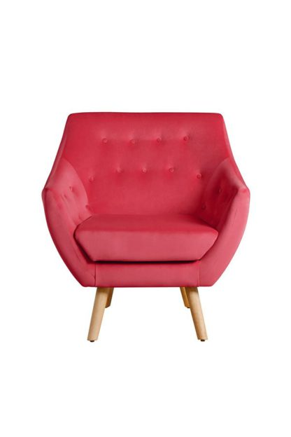 An Image of Poet Armchair, Luxor Cranberry Single Tone