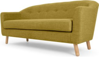An Image of Lottie 3 Seater Sofa, Olive Green