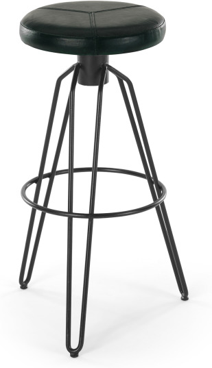An Image of Bielby Barstool, Dark Green Leather