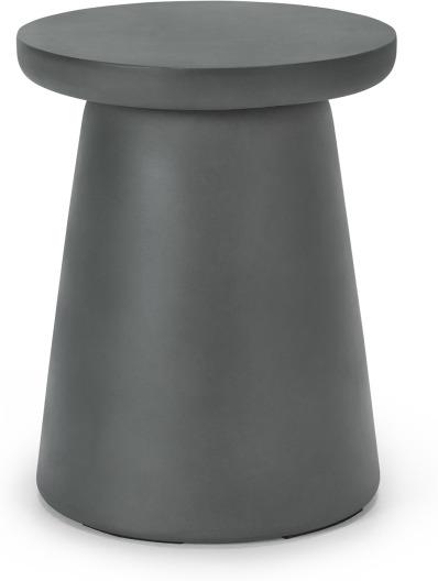 An Image of Maho Garden Round Stool, textured Grey Concrete