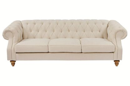 An Image of Buster 3 seat sofa Putty