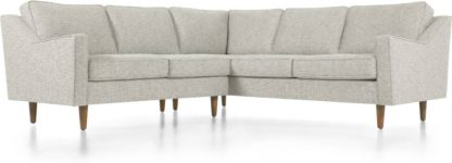 An Image of Dallas Corner Sofa, Grey Basketweave