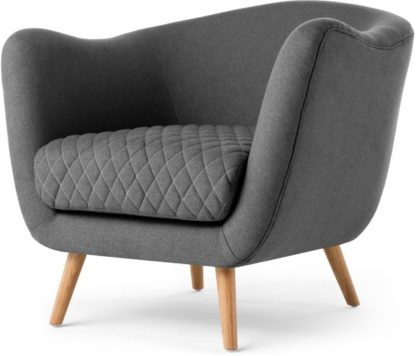 An Image of Flick Accent Armchair, Marl Grey