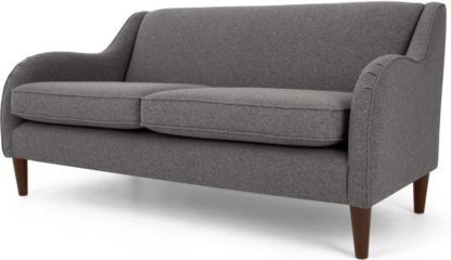 An Image of Helena 3 Seater Sofa, Textured Weave Smoke Grey