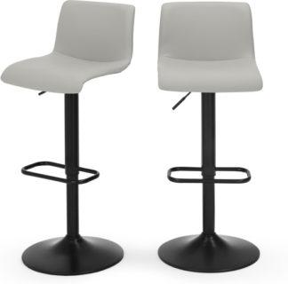 An Image of Set of 2 Sean Adjustable Bar Stools, Grey