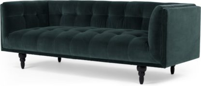 An Image of Connor 3 Seater Sofa, Petrol Cotton Velvet