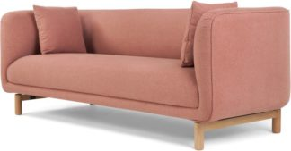 An Image of Becca 3 Seater Sofa, Dusk Pink