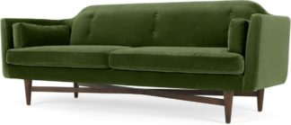 An Image of Imani 3 Seater Sofa, Grass Cotton Velvet