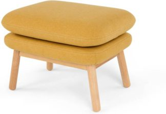 An Image of Oslo Footstool, Yolk Yellow
