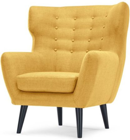 An Image of Kubrick Wing Back Chair, Ochre Yellow