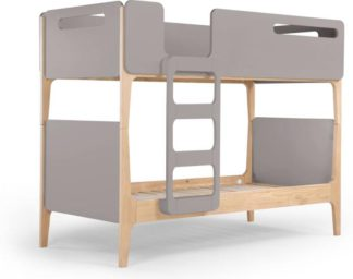 An Image of Linus Bunk Bed, Pine and grey
