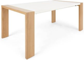 An Image of Ethan 8-10 Seat Extending Dining Table, Oak and White
