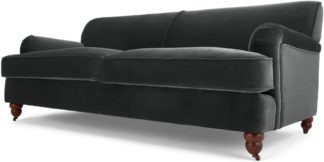 An Image of Orson 3 Seater Sofa, Midnight Grey Velvet