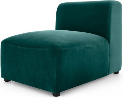 An Image of Juno Modular Single Seat, Seafoam Blue Velvet