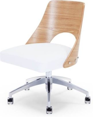An Image of Hailey Swivel Office Chair, Ash and White