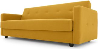 An Image of Chou Sofa Bed with Storage, Butter Yellow
