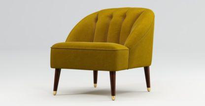 An Image of Custom MADE Margot Accent Chair, Antique Gold Cotton Velvet