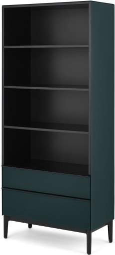An Image of Silas Bookcase, Teal Glass
