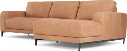 An Image of Luciano Right Hand Facing Chaise End Corner Sofa, Tan Leather