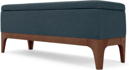 An Image of Roscoe Ottoman Storage Bench, Aegean Blue